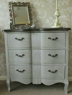 Blanquefort Chateau Style Chest Of Drawers Bowed Front French Shabby Chic Louis
