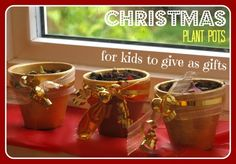 Handmade Christmas Gifts: Plant Pots - Here Come the Girls