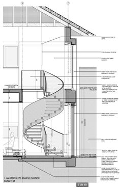 Stair Section Detail Stairs Architecture Staircase Design Stairs Landing Design, Staircase Design, Stair Landing, Spiral Stairs Design, Landing Decor, Stair Design, Detail Architecture, Stairs Architecture, Spiral Staircase Plan