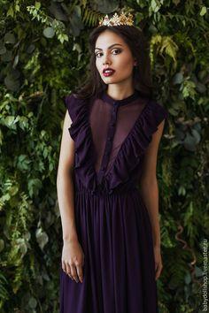 Купить Платье FW15/16 - тёмно-фиолетовый, фиолетовый, платье, темное платье, вечернее платье