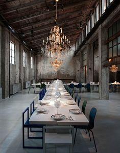 Ресторан на заброшенной лесопилке в Милане