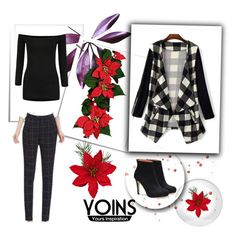 """YOINS"" by lela1992 ❤ liked on Polyvore featuring women's clothing, women, female, woman, misses, juniors and yoins"