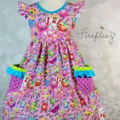 Shopkins Dress sz 6 Sewing Kids Clothes, Sewing For Kids, Diy Clothes, Shopkins Outfit, Shopkins Clothes, Cute Dresses, Girls Dresses, Little Fashionista, Trendy Kids