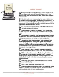 Writing Revision Checklist Fiction Edition by WritersWire