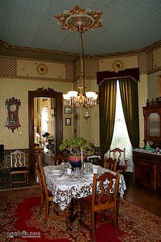 Victorian homes decor crafts on pinterest victorian home for Victorian house dining room ideas
