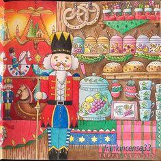 クリスマスマーケット #romanticcountry #romanticcountry3 #ロマンティックカントリー #大人の塗り絵 #eriy #coloring #colorear #cocotxmas #cocotクリスマス #coloringbook