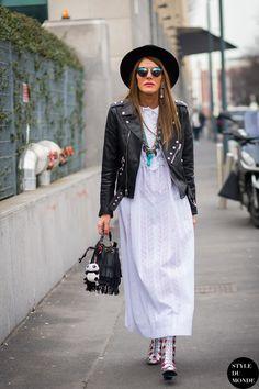 Milan Fashion Week FW 2015 Street Style: Anna Dello Russo - STYLE DU MONDE   Street Style Street Fashion Photos
