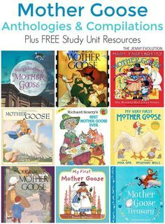Mother Goose Books for Kids - Anthology and Compilations of great Mother Goose Poetry. PLUS FREE study unit resources for classroom and homeschool! on The Jenny Evolution