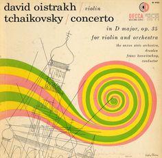 "David Oistrakh violin ""Tchaikovsky - Concerto in D Mjor op.35 for Violin and Orchestra [Decca Records catalogue no. DL 9755] signed Piedra B..."