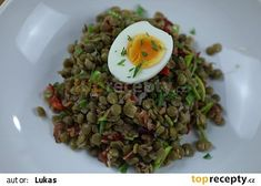 """This is """"Čočkový salát s vejci"""" by Toprecepty on Vimeo, the home for high quality videos and the people who love them. Sprouts, Grains, Vegetables, Food, Essen, Vegetable Recipes, Meals, Seeds, Yemek"""