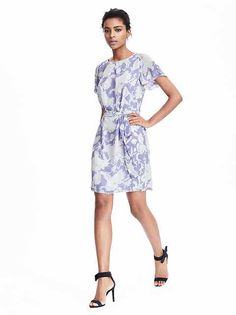 Women's Apparel: dresses | Banana Republic | Pleated Tie-Waist Dress