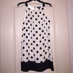 Polka dot dress Zippered polka dot dress with tags Forever 21 Dresses Midi