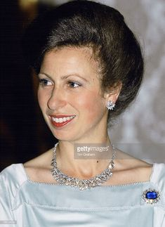 Princess Anne Attending A Banquet In Dubai During A Royal Tour. Get premium, high resolution news photos at Getty Images Royal Princess, Princess Diana, Princesa Anne, Elisabeth Ii, House Of Windsor, Casa Real, Prince Phillip, Royal Jewelry, Jewellery