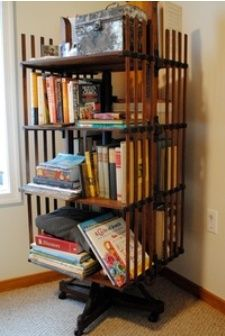 i would love to have this in my house.i know you would too Asya Rose Revolving Bookcase, Exterior House Colors, Apartment Furniture, New Home Designs, Wicker Baskets, Clean House, My House, New Homes, Design Inspiration