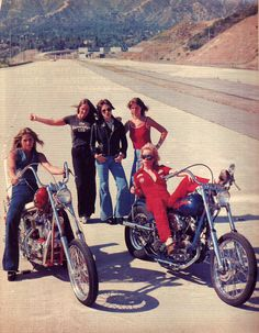 BAD ASS 70's biker chicks