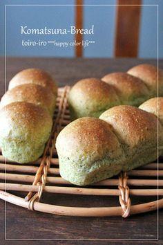 小松菜のパン|レシピブログ