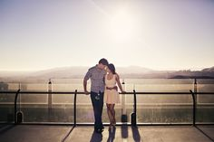 We love this engagement session done at Griffith Park Observatory in Los Angeles, CA.  It has panoramic views of LA and just makes an amazing backdrop.  Griffith Park observatory Engagement Session.  Photo Courtesy of Sarina Love Photography.
