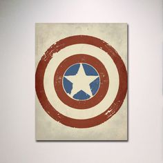 Captain America Inspired Minimalist Poster / by EntropyTradingCo, $15.00