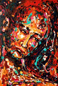 SIN TITULO MIXTA SOBRE MADERA 50X35 AUTOR DIANA FRANCIA G O 2015 Saatchi Art, Diana, Original Paintings, The Originals, Expressionism, Figurative, Art Styles, Vibrant Hair Colors, France