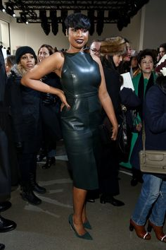 Pin for Later: Le Meilleur de la Fashion Week de New York Se Trouvait au Premier Rang Jennifer Hudson Au défilé Jason Wu.