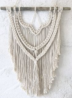 Excited to share the latest addition to my #etsy shop: Macramé Mural // Macrame Wall Hanging // Suspension murale en macramé http://etsy.me/2HjY1k6 #housewares #homedecor #white #macrame #entryway #macramemural #macramewallhanging #makrameewandbehang #suspensionmurale
