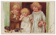 Harriet Mary Bennett used the same children as models in many of her illustrations.