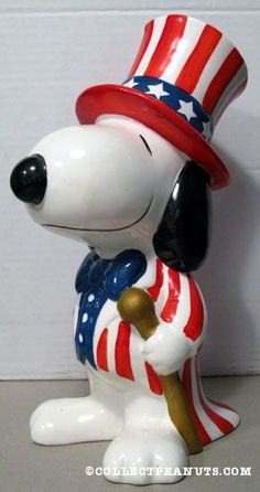 Uncle Sam Snoopy Bank