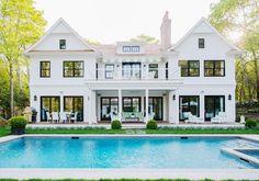 Coastal Living White House with Black Trim
