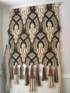 Vintage Macrame Wall Hanging Curtain