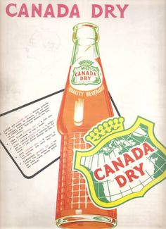 On old poster publicity of the soda it in .