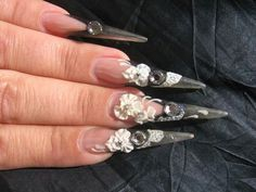Beautiful 3d stiletto nails<---  what happens if you have an itch and miscalculate?  I see an ER visit in your future...