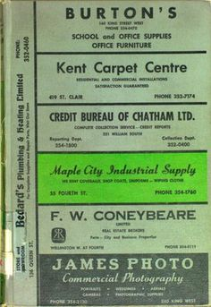Vernon's city of Chatham (Ontario) directory 1971