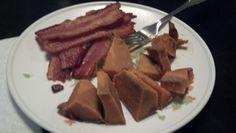 Day 19 dinner: sweet potato & bacon