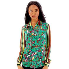 Duro Olowu for jcp Mixed Print Blouse - @jcpenney