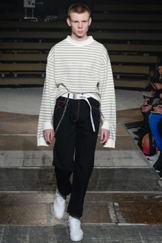 intriguing sleeve cuff | Gosha Rubchinskiy Fall 2016 Menswear Fashion Show