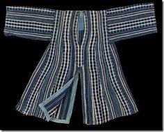 Indigo dyed hunter's tunic from Benin