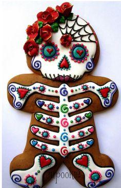 Dia de los Muertos Skeleton cookie