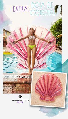 Boia da Urban Outfitters em formato de concha! Perfeito para curtir o verão