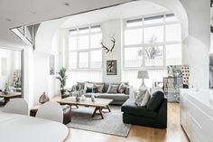 Studio apartment living room with warm home decor