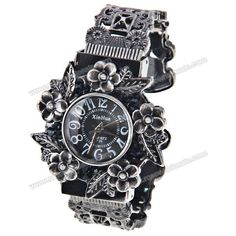 Wholesale XinHua Quartz Watch with 12 Arabic Numbers Indicate Steel Watchband for Women (Black) (BLACK), Women's Watches - Rosewholesale.com