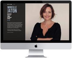 Screenshot der Website www.mireillejaton.ch