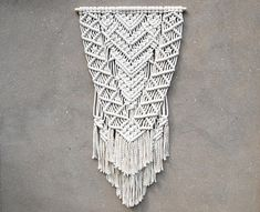 Modern macrame wall hanging large Boho decor Woven tapestry