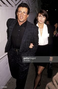 Sylvester Stallone And Jennifer Flavin during Sylvester Stallone And Jennifer Flavin Sighting at Spago's Restaurant - February 1991 at Spago's Restaurant in Hollywood, California, United States. Hollywood Actor, Hollywood Actresses, Sage Stallone, Jennifer Flavin, Silvester Stallone, Bruce Dickinson, Christian Kane, Rocky Balboa, Al Pacino