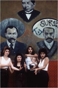 # East L.A. Cholas white fence,1986 by Graciela Iturbide@ Dodge