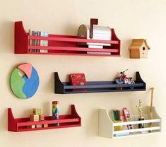 Repisas de madera y modernas para la pared - EspacioHogar.com