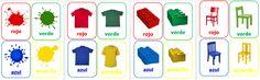 Set 16 tarjetas Asociación de colores $3.500
