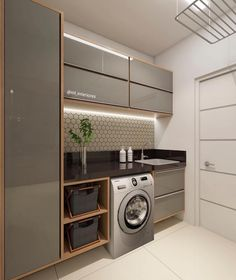 """Arquitetura e Interiores on Instagram: """"😍 Quando a amiga arrasa nas lavanderias rsrs Ficou demais!! 😍 Amei 😍 . . 😍 *Projeto não autoral* 😍…"""""""