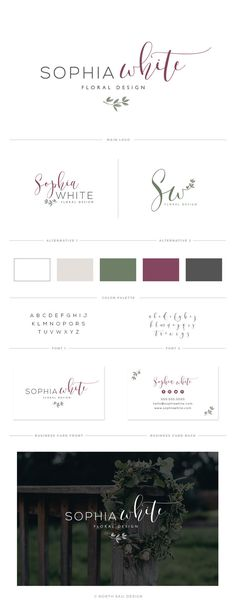 Premade Logo Watercolor Logo Design Logo Design от NorthSailDesign