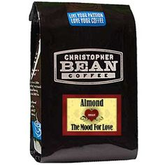 Christopher Bean Coffee Flavored Whole Bean Coffee, Almond The Mood for Love, 12 Ounce * Additional details at the pin image, click it  : Fresh Groceries