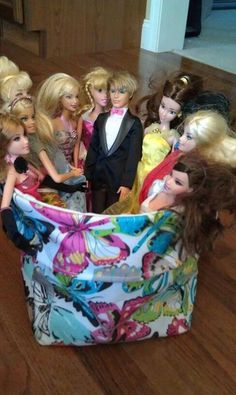 Thirty-One Mini Utility Bin ... Makes a great hangout for Barbie and Ken!